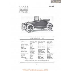Saxon Roadster B5r Fiche Info 1917