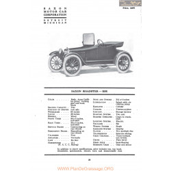 Saxon Roadster B5r Fiche Info Mc Clures 1917