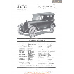 Sayers Six Touring A Fiche Info 1920