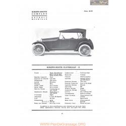 Scripps Booth Cloverleaf D Fiche Info 1917