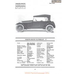 Scripps Booth Cloverleaf D Fiche Info Mc Clures 1917