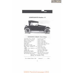 Scripps Booth Radster D Fiche Info 1916