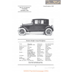 Stearns Knight Coupe Brougham Fiche Info 1922