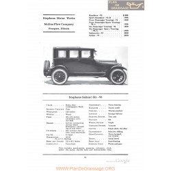 Stephens Salient Six 93 Fiche Info 1922