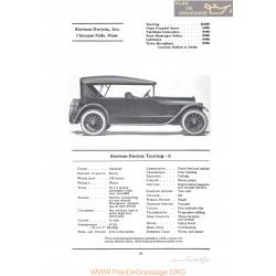 Stevens Duryea Touring E Fiche Info 1922