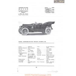Stoddard Dayton Knight Touring Fiche Info 1912