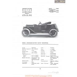 Stoddard Dayton Savoy Roadster Fiche Info 1912