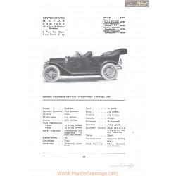 Stoddard Dayton Stratford Touring Fiche Info 1912