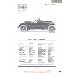 Stutz Bearcat Series H Fiche Info 1920