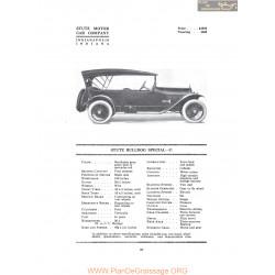 Stutz Bulldog Special C Fiche Info 1916