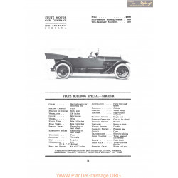 Stutz Bulldog Special Series R Fiche Info 1917