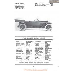 Stutz Bulldog Special Series R Fiche Info Mc Clures 1917