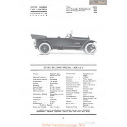 Stutz Bulldog Special Series S Fiche Info 1918