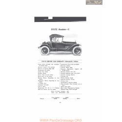 Stutz Roadster C Fiche Info Mc Clures 1916