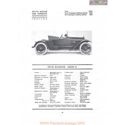 Stutz Roadster Series R Fiche Info 1917