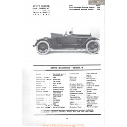 Stutz Roadster Series R Fiche Info Mc Clures 1917
