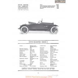 Stutz Roadster Series S Fiche Info 1918