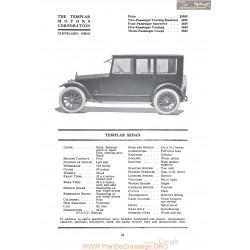 Templar Sedan Fiche Info 1920