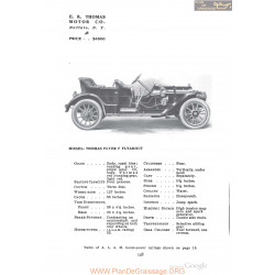 Thomas Flyer F Flyabout Fiche Info 1910