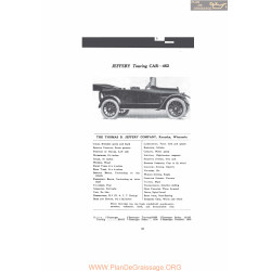 Thomas Jeffery Touring Car 462 Fiche Info Mc Clures 1916