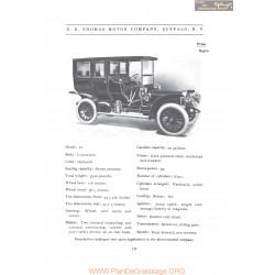 Thomas Model 32 Fiche Info 1906