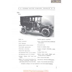 Thomas Model 33 Fiche Info 1906