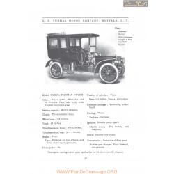 Thomas Xxxix Flyer Fiche Info 1907