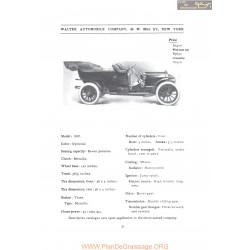 Walter Model 1907 Fiche Info 1907