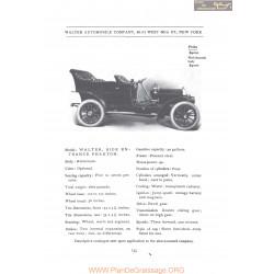 Walter Side Entrance Phaeton Fiche Info 1906