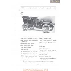 Waltham Dl Orient Fiche Info 1907