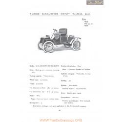 Waltham Er Orient Runabout Fiche Info 1907