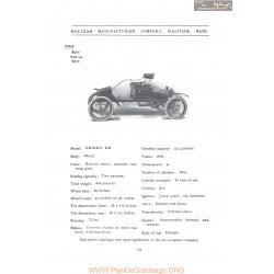 Waltham Orient Bb Fiche Info 1906