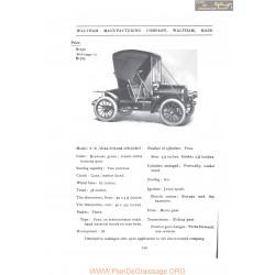 Waltham Tr Orient Fiche Info 1907