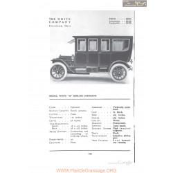 White 40 Berline Limousine Fiche Info 1912