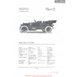 White 40 Touring Fiche Info 1912