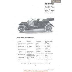 White Ga Touring Fiche Info 1910