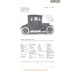 Willys Overland 59 Coupe Fiche Info 1912