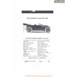 Willys Overland Knight Touring Car 84b Fiche Info Mc Clures 1916