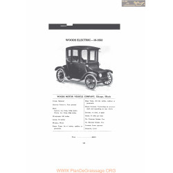 Woods Electric 16 1522 Fiche Info 1916 V2
