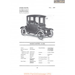 Woods Electric 16 1522 Fiche Info 1916