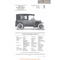 Yellow Cab Brougham Taxicab O Fiche Info 1922