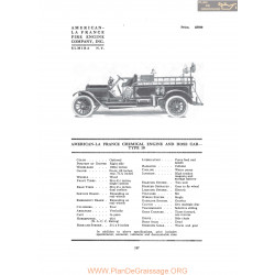 American La France Chemical Engine And Hose Car Type 10 Fiche Info 1916