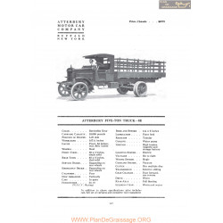 Atterbury Five Ton Tuck 8e Fiche Info 1919
