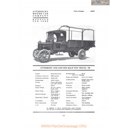 Atterbury One And One Half Ton Truck 7r Fiche Info 1919