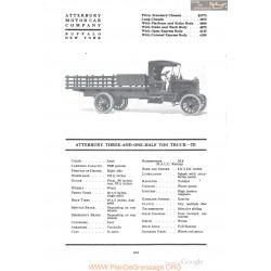Atterbury Three And One Half Ton Truck 7d Fiche Info 1918