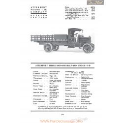 Atterbury Three And One Half Ton Truck 7d Fiche Info 1920