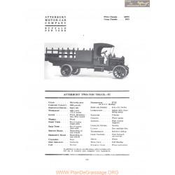 Atterbury Two Ton Truck 7c Fiche Info 1919