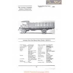 Autocar Five Ton Heave Duty Truck Xxviy Fiche Info 1922