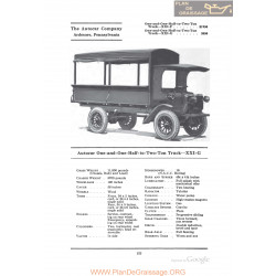 Autocar One And One Half To Two Ton Truck Xxig Fiche Info 1922