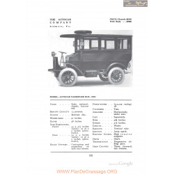 Autocar Passenger Bus Xxi Fiche Info 1912